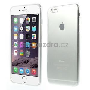 Ultra slim lesklý gelový obal na iPhone 6 Plus a 6s Plus - transparentní - 1