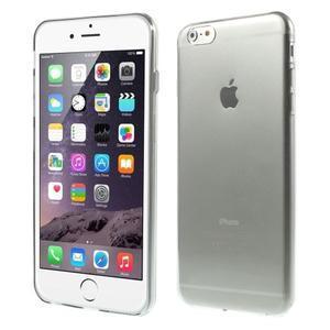 Ultra slim lesklý gelový obal na iPhone 6 Plus a 6s Plus - šedý - 1