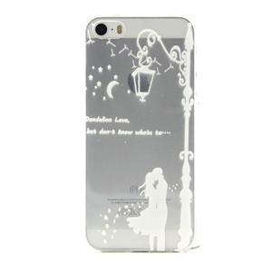 Transparentní gelový obal na mobil iPhone SE / 5s / 5 - láska pod lampou - 1