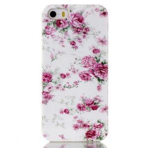 Gelový obal na mobil iPhone SE / 5s / 5 - květiny - 1
