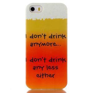 Gelový obal na mobil iPhone SE / 5s / 5 - drink - 1