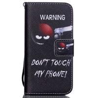 Peněženkové pouzdro na mobil iPhone SE / 5s / 5 - nešahat - 1/7