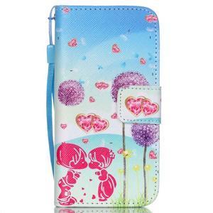 Peněženkové pouzdro na mobil iPhone SE / 5s / 5 - pampelišky - 1