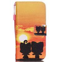Peněženkové pouzdro na mobil iPhone SE / 5s / 5 - zapadající slunce - 1/7