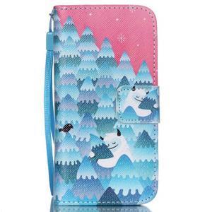Peněženkové pouzdro na mobil iPhone SE / 5s / 5 - sněžný muž - 1