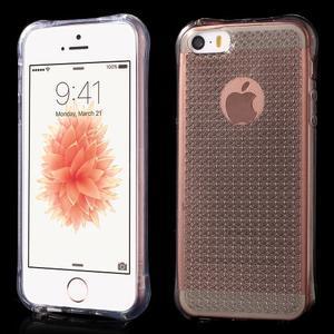 Diamonds gelový obal se silným obvodem na iPhone SE / 5s / 5 - transparentní - 1