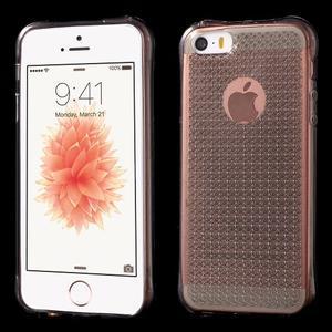 Diamonds gelový obal se silným obvodem na iPhone SE / 5s / 5 - šedý - 1