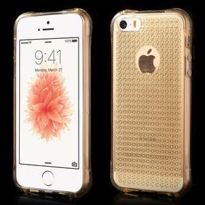 Diamonds gelový obal se silným obvodem na iPhone SE / 5s / 5 - zlatý - 1