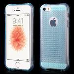 Diamonds gelový obal se silným obvodem na iPhone SE / 5s / 5 - modrý - 1/5
