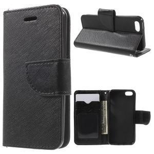 Cross PU kožené pouzdro na iPhone SE / 5s / 5 - černé - 1