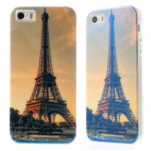 Blueray gelový obal s odlesky na iPhone SE / 5s / 5 - Eiffelova věž - 1