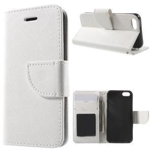 Cross PU kožené pouzdro na iPhone SE / 5s / 5 - bílé - 1