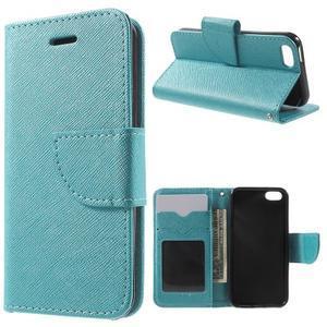 Cross PU kožené pouzdro na iPhone SE / 5s / 5 - modré - 1