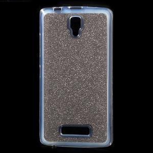 Povrchově třpytivý gelový obal na mobil Lenovo A2010 - šedý - 1