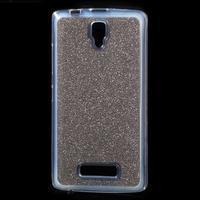 Povrchově třpytivý gelový obal na mobil Lenovo A2010 - šedý - 1/5