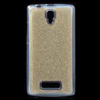Povrchově třpytivý gelový obal na mobil Lenovo A2010 - zlatý - 1/5