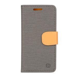 Clothy PU kožené na mobil Lenovo A2010 - šedé - 1