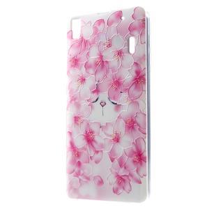 Softy gelový obal na mobil Lenovo A7000 / K3 Note - květy švestky - 1