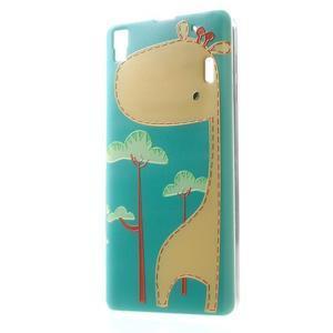 Softy gelový obal na mobil Lenovo A7000 / K3 Note - žirafa - 1