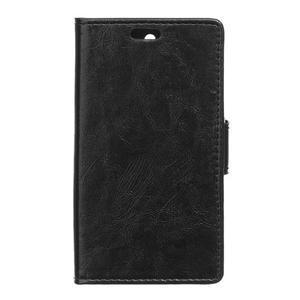 GX koženkové peněženkové na mobil Lenovo Vibe P1m - černé - 1