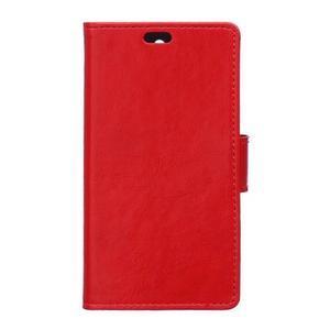 GX koženkové peněženkové na mobil Lenovo Vibe P1m - červené - 1