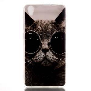 Softy gelový obal na mobil Lenovo S850 - cool kočka - 1