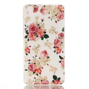 Softy gelový obal na mobil Lenovo S850 - květiny - 1