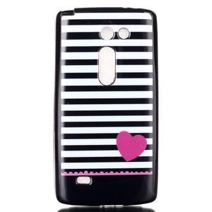 Softy gelový obal na LG Leon - srdce - 1