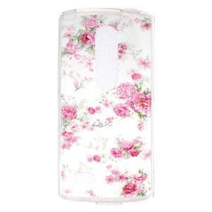 Jelly gelový obal na mobil LG Leon - květiny - 1