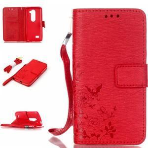 Magicfly pouzdro na mobil LG Leon - červené - 1