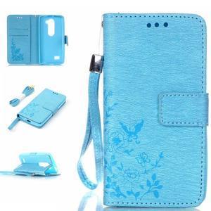Magicfly pouzdro na mobil LG Leon - modré - 1