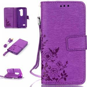 Magicfly pouzdro na mobil LG Leon - fialové - 1