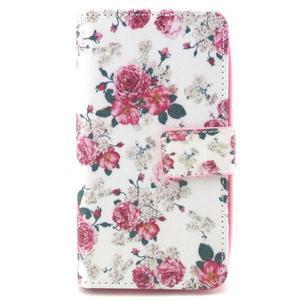 Style peněženkové pouzdro na LG Leon - květiny - 1