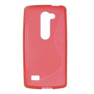 S-line gelový obal na mobil LG Leon - červený - 1