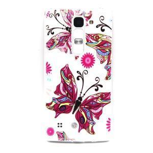Transparentní gelový obal na mobil LG Spirit - motýl - 1