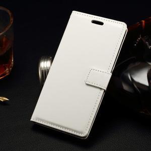 Peněženkové PU kožené pouzdro na LG Spirit - bílé - 1