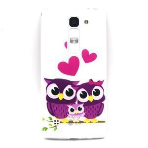 Transparentní gelový obal na mobil LG Spirit - zamilované sovičky - 1