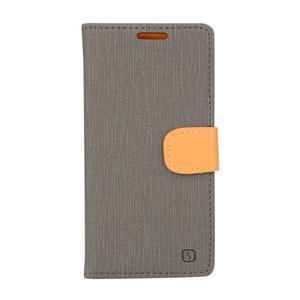 Wally koženkové pouzdro na mobil Microsoft Lumia 640 - šedé - 1