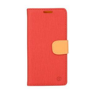 Wally koženkové pouzdro na mobil Microsoft Lumia 640 - červené - 1
