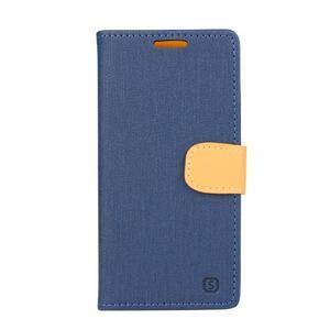 Wally koženkové pouzdro na mobil Microsoft Lumia 640 - tmavěmodré - 1