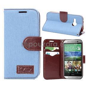 Jeans peněnžekové pouzdro pro HTC One Mini 2 - světle modré - 1