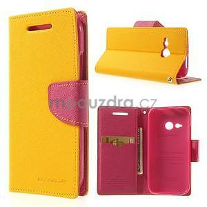Style peněženkové pouzdro HTC One Mini 2 - žluté - 1