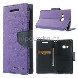 Style peněženkové pouzdro HTC One Mini 2 - fialové - 1