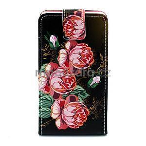 Flipové pouzdro na Huawei Ascend P7 - květy - 1