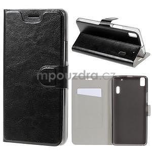 Hardy peněženkové pouzdro na Lenovo A7000 a Lenovo K3 Note - černé - 1
