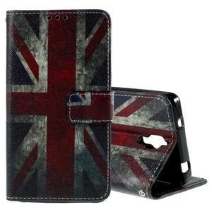 Cross peněženkové pouzdro na Xiaomi Mi4 - UK vlajka - 1