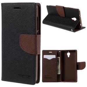 Mr. Fancy peněženkové pouzdro na Xiaomi Mi4 - černé/hnědé - 1