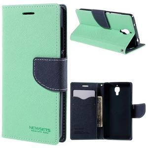 Mr. Fancy peněženkové pouzdro na Xiaomi Mi4 - azurové - 1