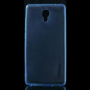 Ultratenký slim gelový obal na Xiaomi Mi4 - modrý - 1