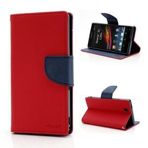 Mr. Goos peněženkové pouzdro na Sony Xperia Z - červené - 1
